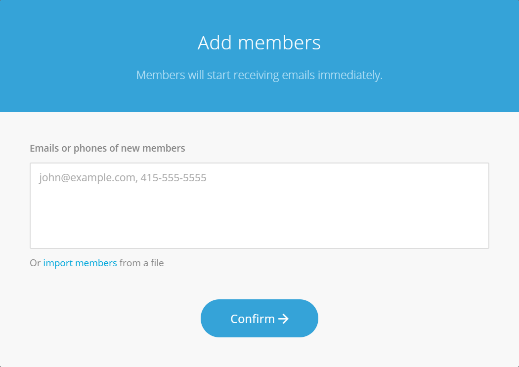 Add members dialog screenshot