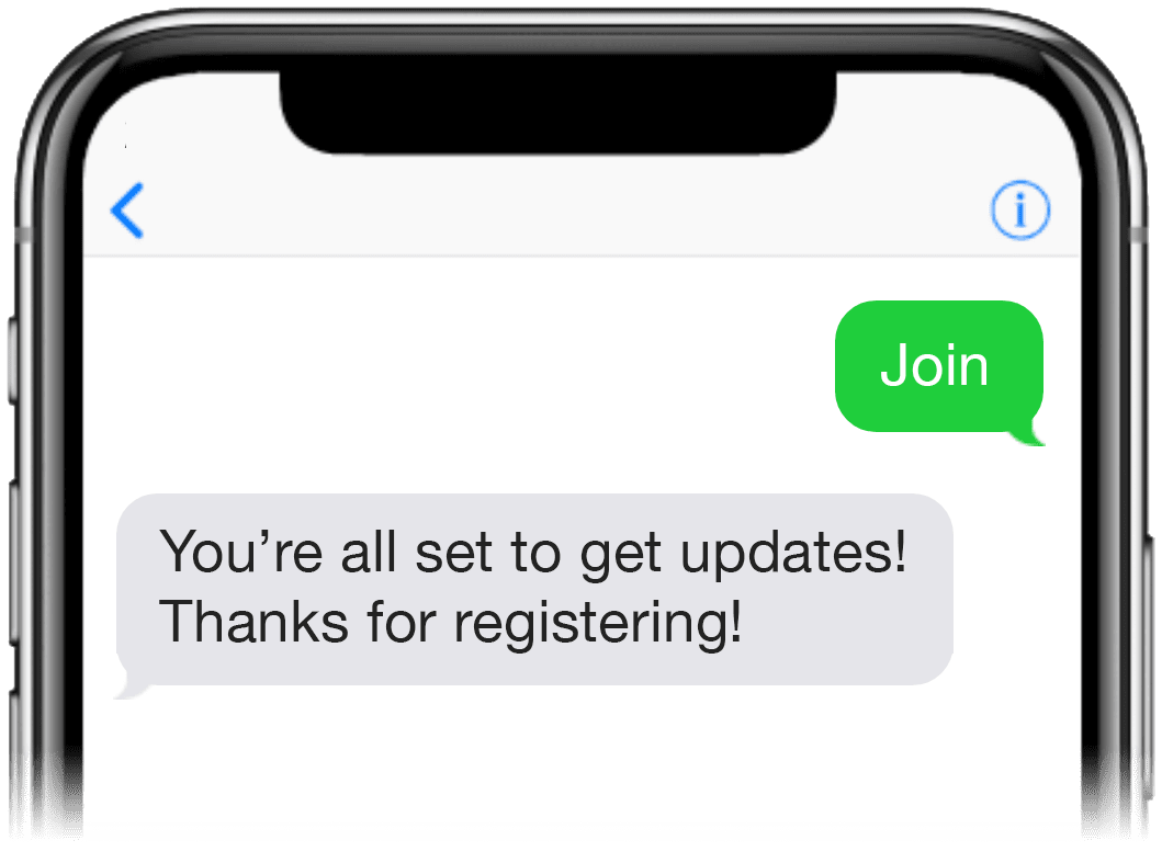 Text-to-join message screenshot