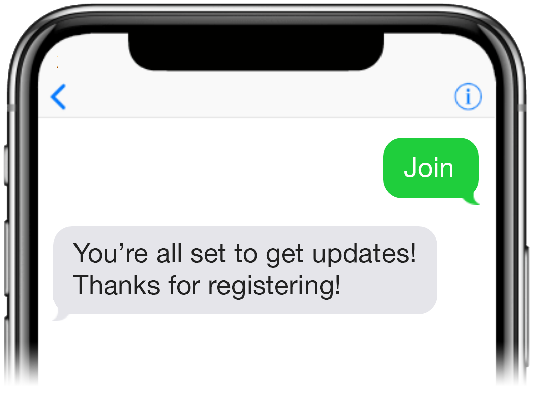 Text-to-join screenshot